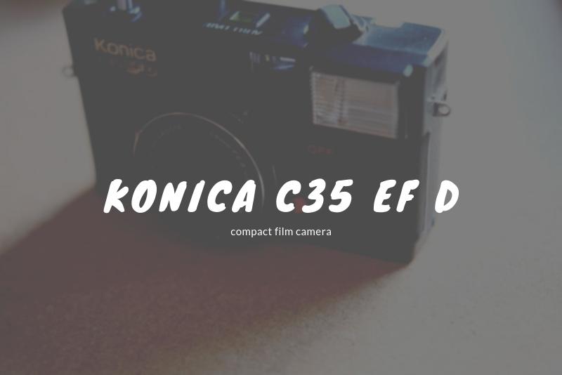 「コンパクトフィルムカメラ『Konica C35 EF D』の使い方と作例」のアイキャッチ画像